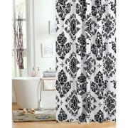 Black And Cream Shower Curtain. Mainstays Classic Noir Fabric Shower Curtain Curtains  Walmart com