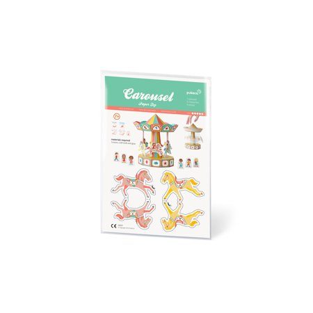 DIY Paper Toy Craft Kit - 3D Models Paper Figures (Carousel)