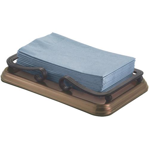 InterDesign York Guest Towel Holder Tray for Bathroom - Bronze