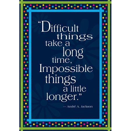 Barker Creek and Lasting Lessons  Impossible Things Take Longer Poster - image 1 de 1