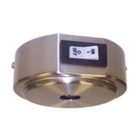 Nora Lighting NRS90-P37-2. 5BN Rail Current Limiter With 2. 5A Circuit Breaker, Brushed Nickel