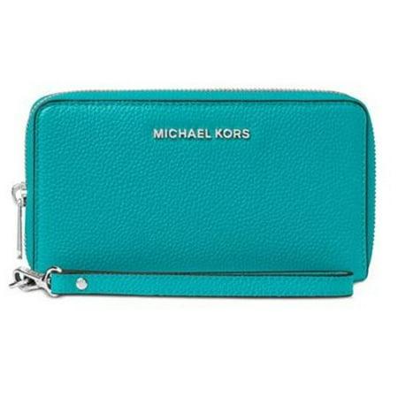 98bdb68c72b6 Michael Michael Kors Mercer Large Flat Multi Function Phone Case ‑ Tile Blue  32F6SM9E3L-439 - Walmart.com