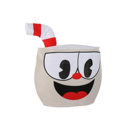 elope Cuphead Felt Character Mascot Head - Mascot Head
