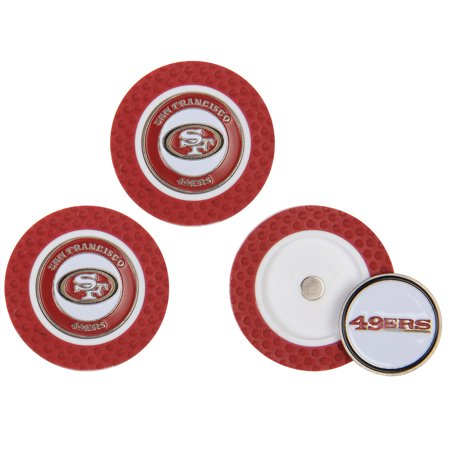 San Francisco 49ers 3-Pack Poker Chip Golf Ball Markers - No - Halloween Balls In San Francisco
