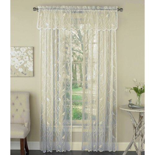 Songbird Ivory Lace Curtain Panel