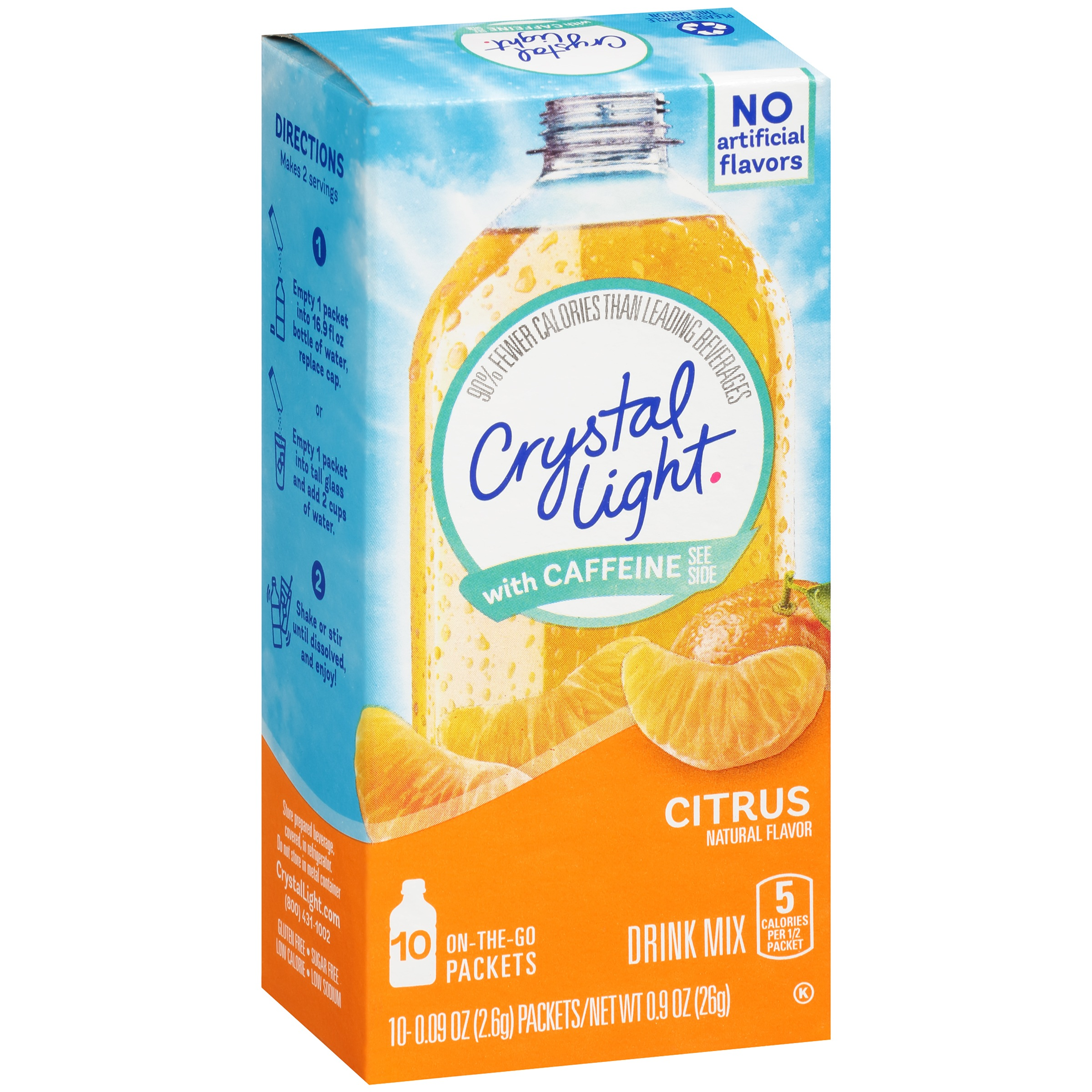 Crystal Light with Caffeine On-the-Go Citrus Drink Mix 10 ct Box by Kraft Heinz Foods Company