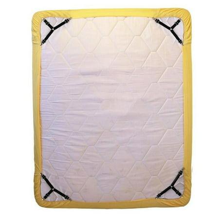 VENSE 4PCS Adjustable Triangular Bed Mattress Sheet Metal Clips Grippers Straps Table Cloth Fasten Suspender Fastener Holder, Black - image 2 of 8