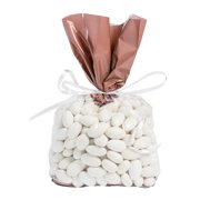 Rose Gold Banded Cellophane Bags (Dz) - Party Supplies - 12 Pieces