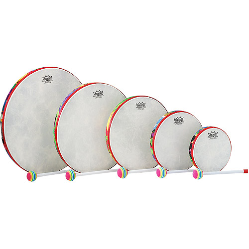 Remo Kids Percussion 5 piece Hand Drum Set, Rain Forest Fabric by Remo