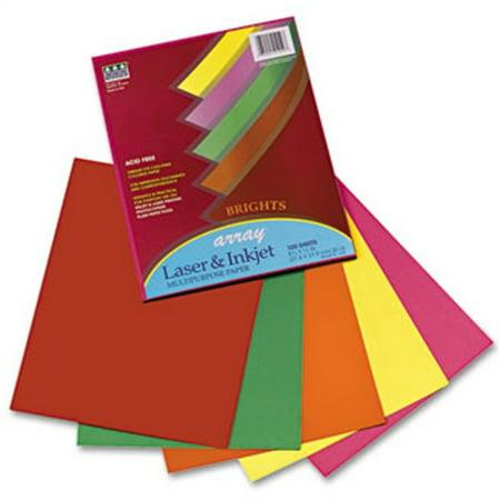 Pacon Corporation Array Colored Bond Paper, 20lb, Letter, Assorted, 100 Sheets/Pack (Long Bond Paper)