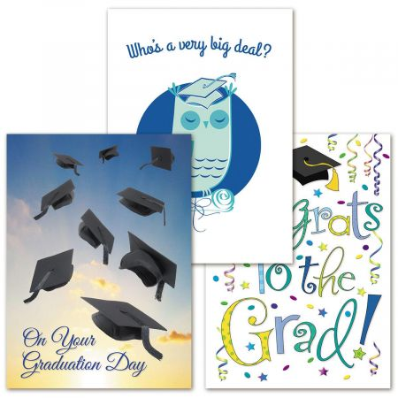 Graduation Classic Greeting Cards - Set of 6 (2 of each)