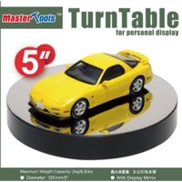 """Battery Operated Round Mirrored Display Turntable for Model Kits (5""""Dia)"""