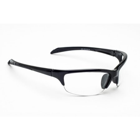 - Laser Safety Eyewear - Co2/excimer Filter in Black Plastic Semi-rimless Wrap-around Frame Style