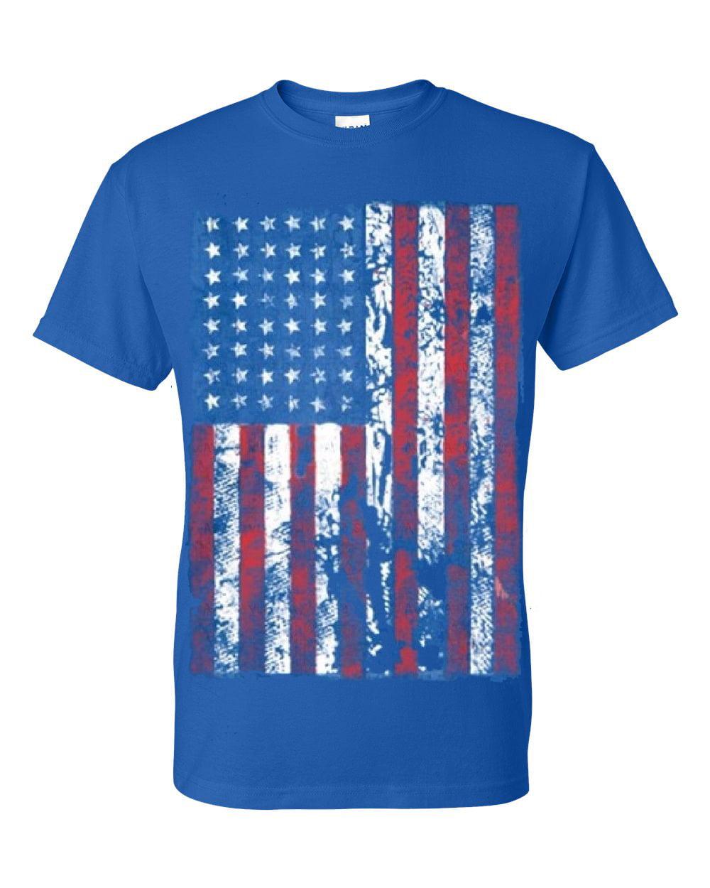 92ff7df05c2 Distressed American Flag USA Patriotic Clothing Mens Unisex Top T-Shirt