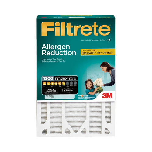 "Filtrete Allergen Reduction Deep Pleat Filter, 16"" x 25"" x 4"", 1pk"