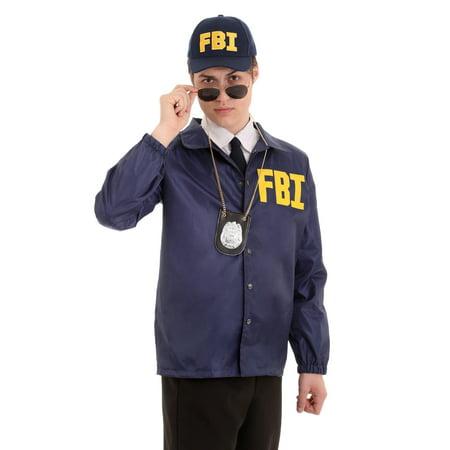 Fbi Jacket Halloween Costume (Adult FBI Costume)