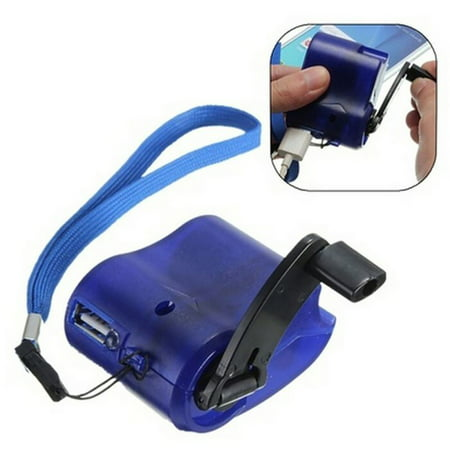 Charger Battery Outdoor Emergency Charging Survival Tools USB Cell Phone Hand Crank