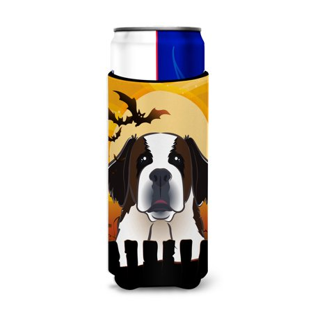 Halloween Saint Bernard Ultra Beverage Insulators for slim cans BB1804MUK (Saints Steelers Halloween)