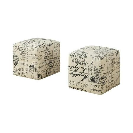 Rosebery Kids Cube Ottoman in Vintage French (Set of (Kids Cube Ottoman)