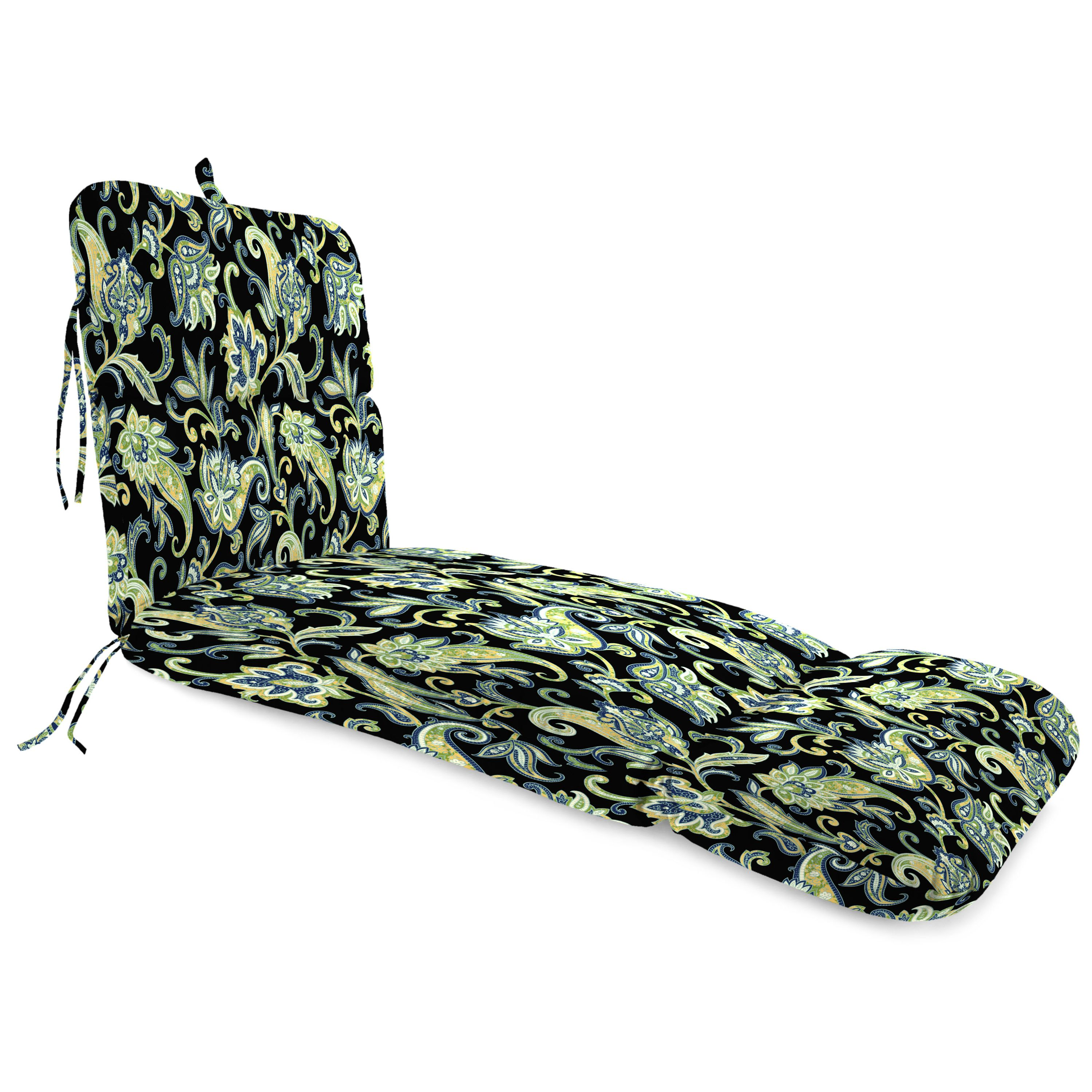 Jordan Manufacturing Outdoor Patio Replacement Chaise Lounge Cushion, Simba/Chalk