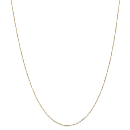 14k Yellow Gold .5 Mm Carded Link Curb Chain Necklace 16 Inch Pendant Charm ()