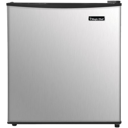 Magic Chef 1.7 cu ft Compact All Refrigerator, Stainless Steel