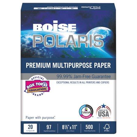 Boise POLARIS Premium Multipurpose Paper, 3-Hole, 8 1/2 x 11, 20lb, White,