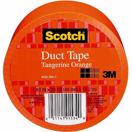 3M Scotch Duct Tape for Artists, Orange, 1.88u0022 x 20 yds.