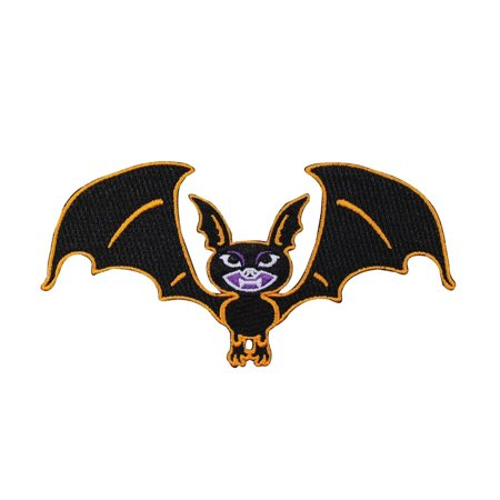 Halloween Vampire Bat Patch Kreepsville Art Craft Apparel Decor Iron-On Applique (Halloween Bat Crafts)
