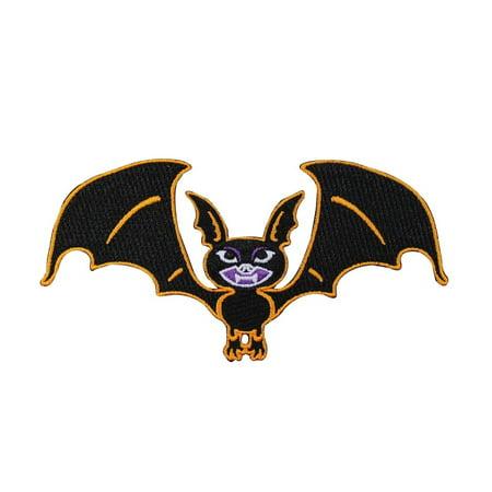 Halloween Vampire Bat Patch Kreepsville Art Craft Apparel Decor Iron-On Applique (Art Halloween Crafts)