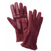 Isotoner Smart Touch  Womens Port Burgundy Fleece Smartouch Texting Gloves