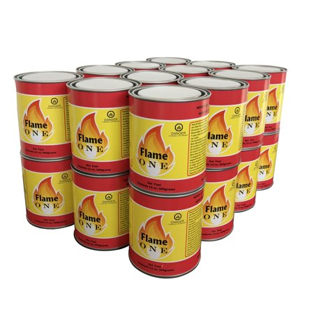 Flame One Indoor and Outdoor Premium Gel Fireplace Fuel in 13 Oz Cans (24 Pack) ()