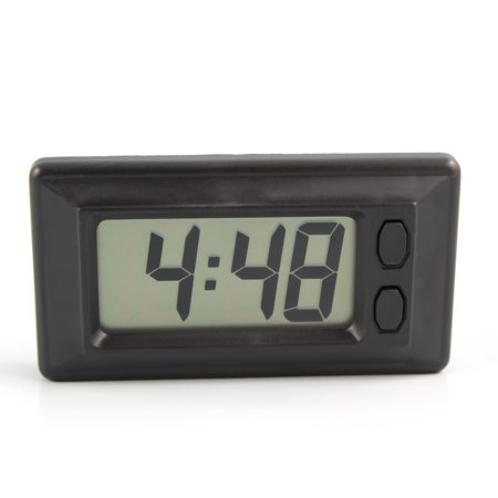 Digital LCD Car Clock with Calendar Display - Dashboard Clock