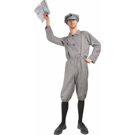 Adult Old Fashion News Boy Costume