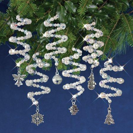Nostalgic Christmas Beaded Crystal Ornament Kit-Crystal & White Christmas Charmers - image 1 de 1