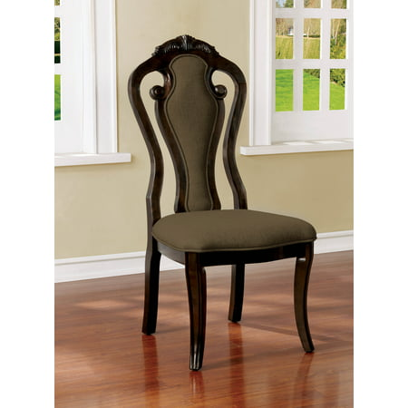Furniture Of America Darcy Traditional Queen Anne Walnut Finish