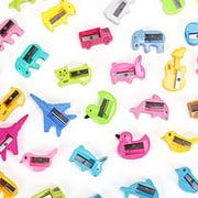 50 Pcs Bulk Pencil Sharpeners Cartoon Animal Shaped Small Pencil Sharpener