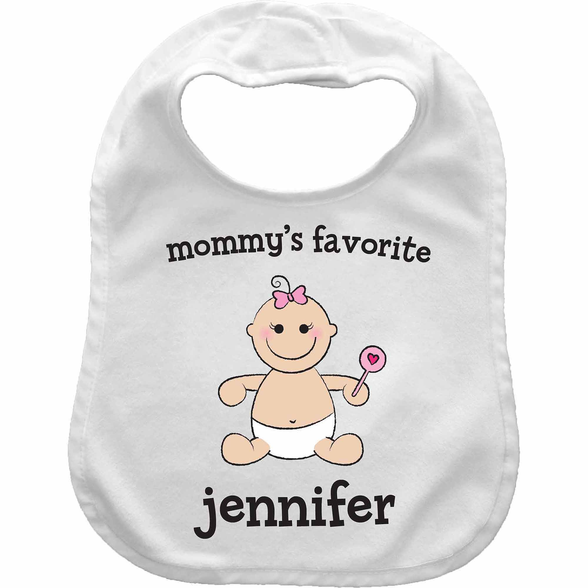 Baby Girl Character Personalized Bib