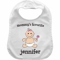 Baby Girl Character Personalized Bib