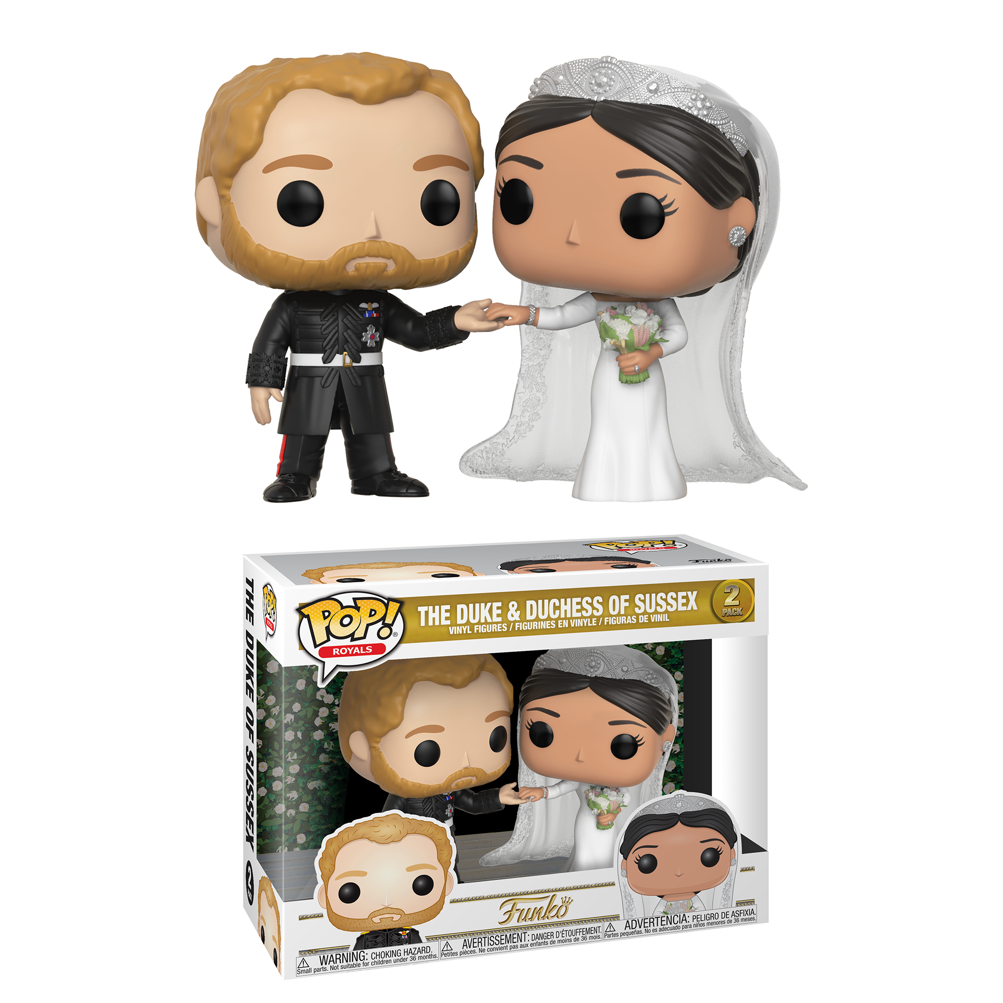 Funko Pop! Royal: Royal W2 - Duke Duchess Sussex- 2 Pack