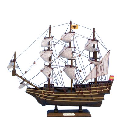 San Felipe 14 Wooden Model Tall Ship Vintage Model Boat Tall Ship Replica Sold Fully Assembled Not A Model Ship Kit
