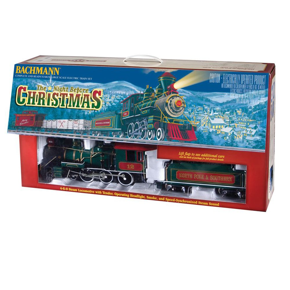 Bachmann Night Before Christmas -- Large Scale (G Scale) Ready To Run Electric Train Set by Bachmann