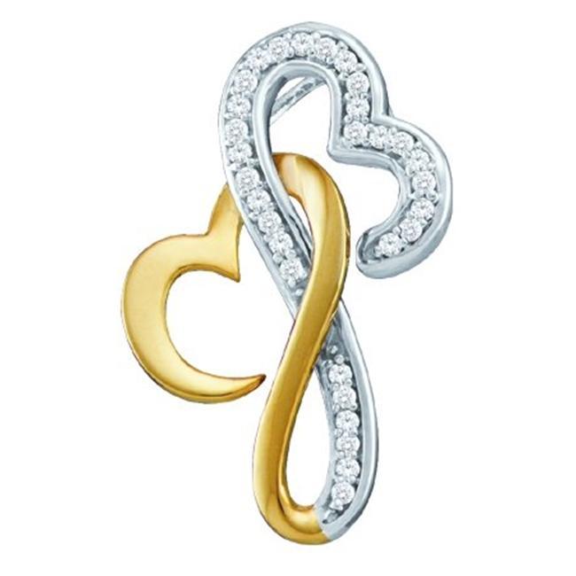 Gold and Diamonds PH2625-W 0. 10CT-DIA HEART PENDANT- Size 7