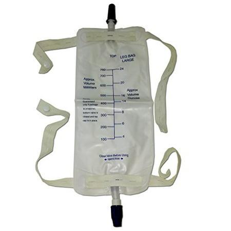 Urine Leg Bag (3 Pieces Urinary Urine Leg Bag 750 Cc Anti Reflux Valve With Straps)
