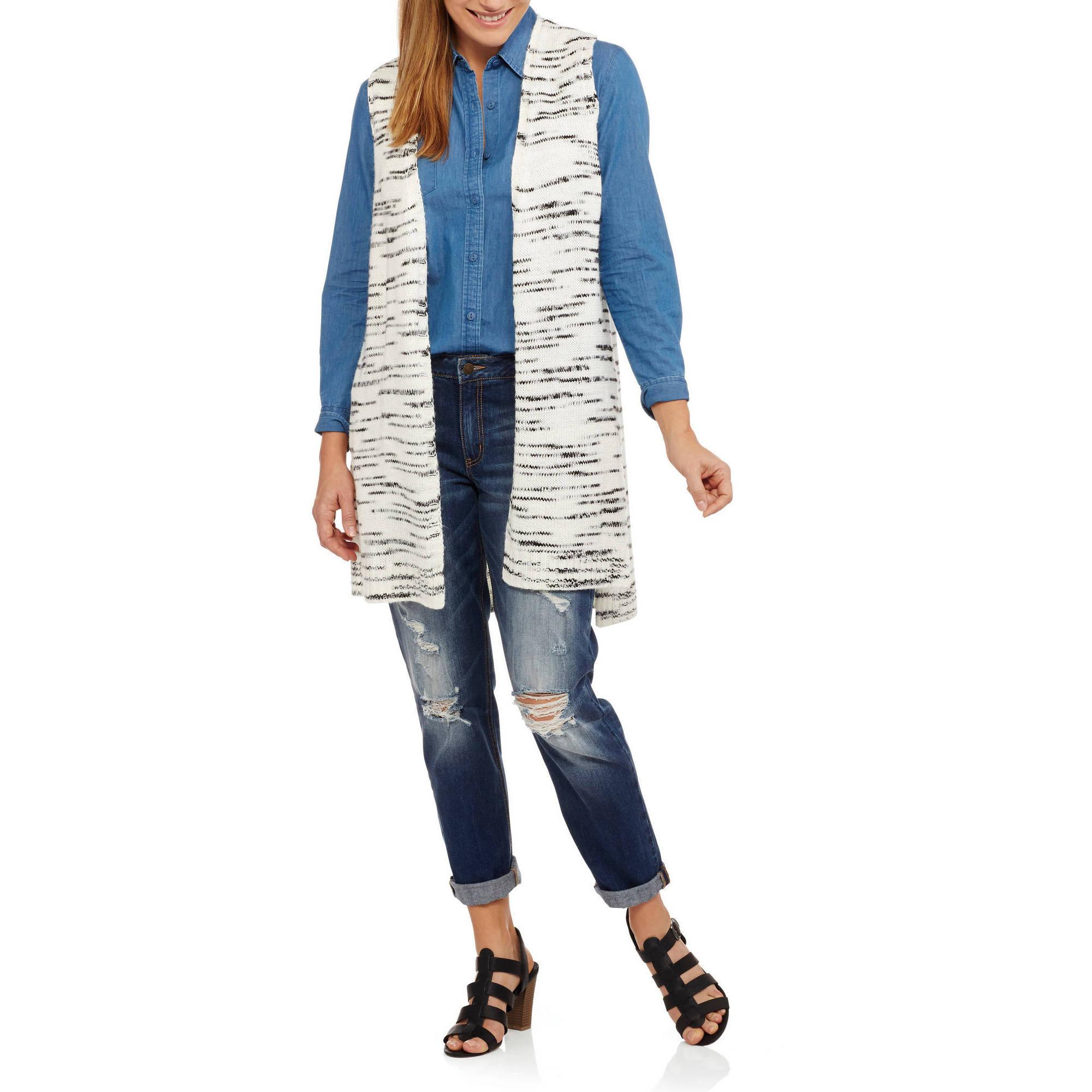 Faded Glory Women's High Low Sweater Vest