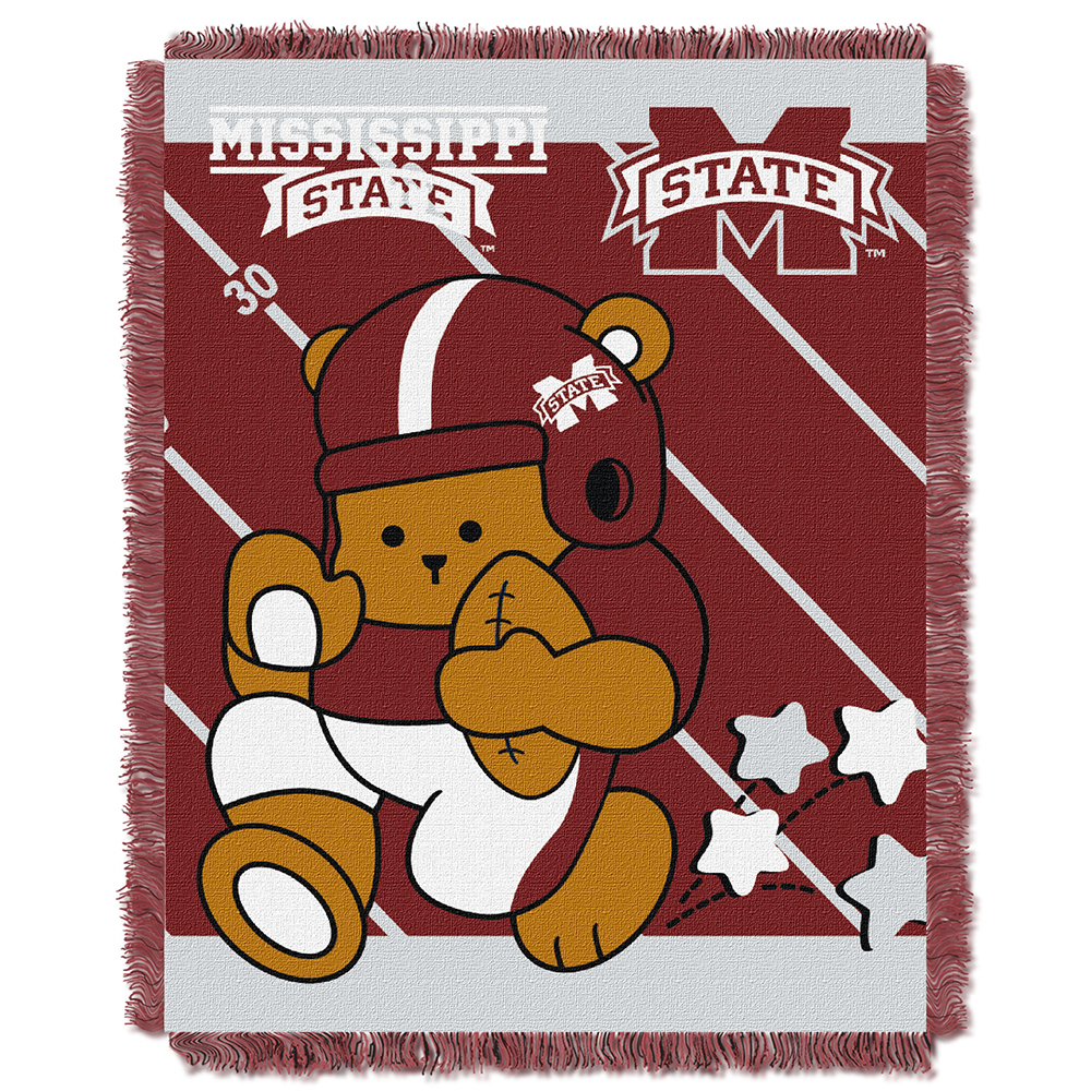 36 x 46 Multi Color Officially Licensed NCAA Fullback Jacquard Woven Baby Throw Blanket