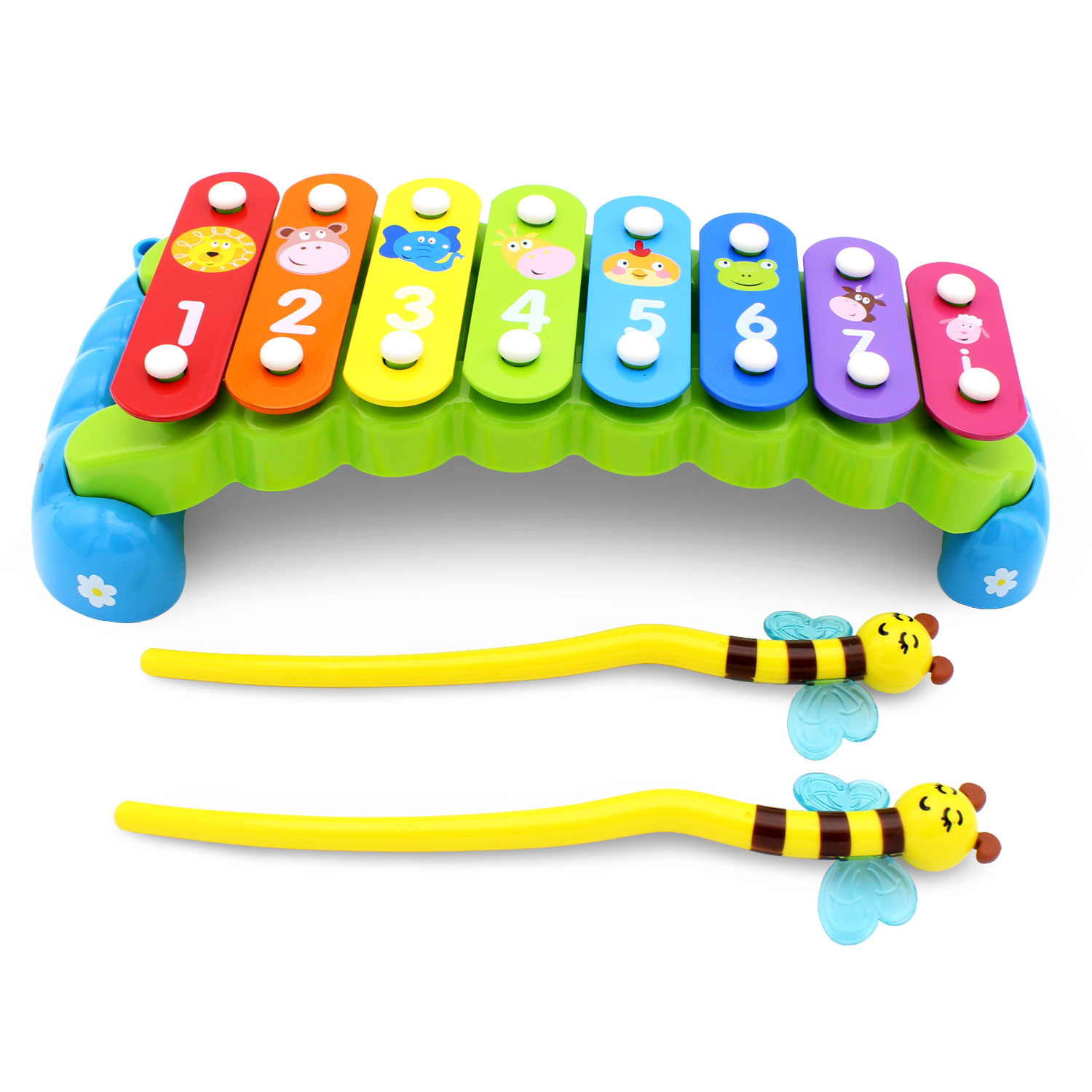 Rainbow Garden Xylophone for Babies Preschool Kids by Transformania Toys