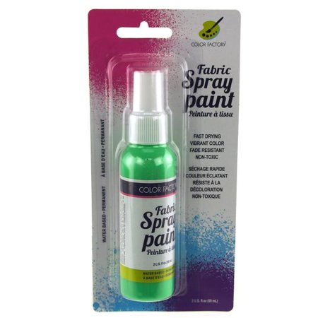 Fabric Color Spray Paint, 59mL, 5-inch, Neon Green