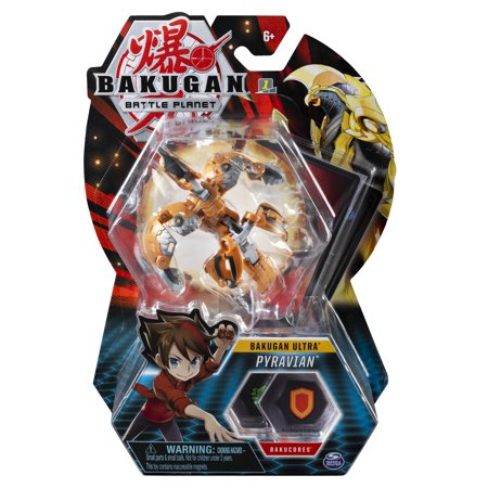 Bakugan Ultra, Pyravian, 3-inch Collectible Action Figure and Trading Card, for Ages 6 and