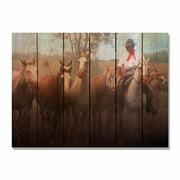 Day Dream HQ AG3324 33 x 24 in. Argentine Gaucho Inside & Outside Cedar Wall Art